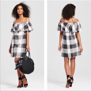 New Who, What, Wear off shoulder dress